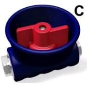 Кран для пены, BPS вход 1_2 г. выход 1_2 г. (красный)